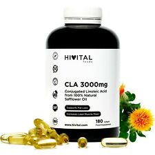CLA Ácido Linoleico Conjugado 3000mg | 180 cápsulas blandas de aceite de Cártamo