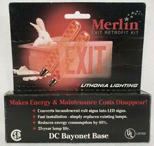 Lithonia Lighting Merlin Exit Sign Led Retrofit Kit 2 1 Watt Bulbs 120vac