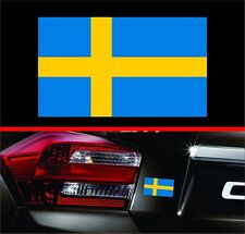 "4"" Swedish Flag Vinyl Decal Bumper Sticker Sweden Self Adhesive for Volvo & Saab"