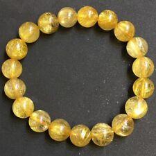 11mm Natural Hair Rutilated Quartz Crystal Bracelet