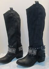 Not Rated Womens Black Riding Boots Size 6 NEW!