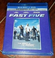 Fast Five (Blu-ray/DVD, 2011, Extended & Theatrical) Free Shipping!