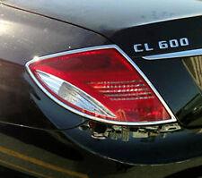 Mercedes CL CL550 CL650 Chrome Taillight Trim Bezels by Luxury Trims 2007-2010