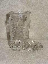 Jim Beam Whiskey Glass Cowboy Boot Shot Glass Toothpick Holder