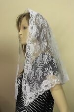 Ivory veils and mantilla Catholic church chapel lace headcovering  Mass IVNL