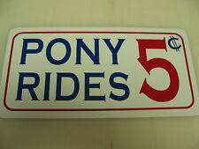 PONY RIDES Metal Sign Vintage Style Horse Men Ladies