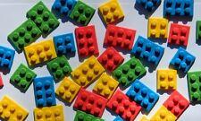 24 edible BUILDING BLOCK cake CUPCAKE topper DECORATION construction BRICK play
