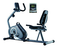 FREE POST Endurance Recumbent Exercise Bike Magnetic HEAVY DUTY + Back Support