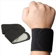 Tourmaline magnetic self heating wrist support (pair)