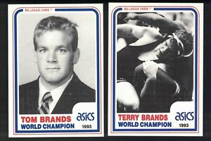 1993 Banach Legends of Wrestling Cards TOM & TERRY BRANDS Champion Iowa Hawkeyes