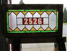 ~ ANTIQUE STAINED GLASS TRANSOM WINDOW ~ 30 x 16 ~ ADDRESS 2526 ~ SALVAGE