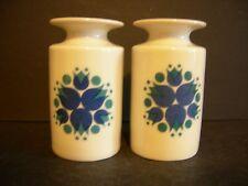 Thomas, now Rosenthal MID CENTURY BLUE PIN WHEEL Salt & Pepper Shakers, Germany
