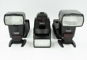 Canon Speedlites 420EX 430EX & 580EX Three Strobes at One Low Price