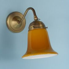Jugendstil Wandlampe Wandleuchte Flurlampe Leselampe Dielenleuchte Cognac 12b