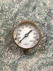 Vintage Lonergan PHILA Heavy brass pressure gauge steampunk working