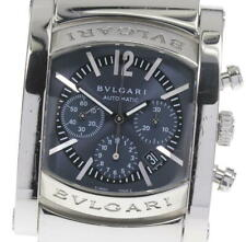 BVLGARI Assioma AA44SCH Chronograph Navy Dial Automatic Men's Watch_599239