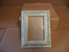 "MADE IN ENGLAND  4 1/2"" x 3""  FloralHandmade by Carole Geimley Picture Frame."
