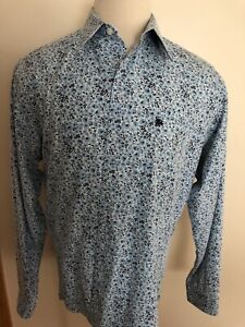 BURBERRY LONDON Made In THE UNITED KINGDOM MEN'S COTTON CASUAL SHIRT SIZE XXL