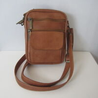 Unbranded Brown Leather Crossbody Shoulder Bag Messenger Small Travel Columbia