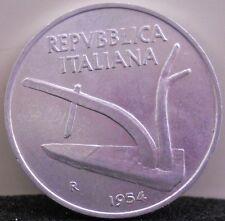 Moneta Repubblica ITALIANA - 10 LIRE Spighe 1954   SPL     11/16