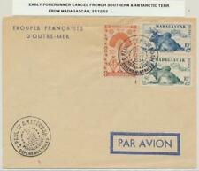 FRENCH SOUTHERN ANTARTIC 1953 EARLY FORERUNNER CANCEL FROM MADAGASCAR(SEE BELOW)