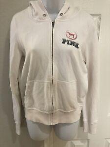 St Louis Cardinals Womens white zip Victorias Secret Pink Hoodie Jacket Size M