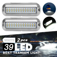 2x 4.7'' White 316SS Cover 39 LED Underwater Pontoon Boat Transom Fishing  NEW
