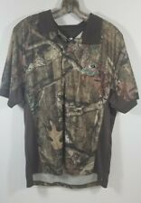 Mossy Oak Break Up Infinity Camo Pattern Polo Size L