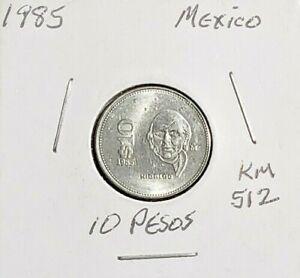 MEXICO HIDALGO 10 PESOS 1987-1988-1989 FREE SHIPPING