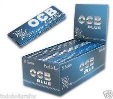 OCB AZUL XPERT BLUE 50 libritos de 60 hojitas  papel corto combustion lenta.