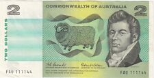 Australia 1966 Coombs Wilson Two Dollar Note good EF Interesting Serial