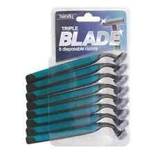8 PACK TRIPLE BLADE MEN'S RAZORS DISPOSABLE FIX HEAD BLADE SHAVING RAZORS NEW