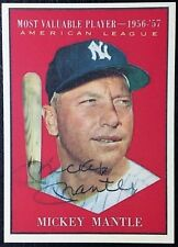 1961 Topps #475 Mickey Mantle AL MVP Reprint - MINT