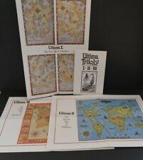 Ultima Trilogy I II III Guide Book and Paper Maps Darkness Parts Origin