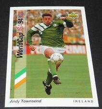 ANDY TOWNSEND CHELSEA IRELAND EIRE FOOTBALL CARD UPPER DECK USA 94 PANINI 1994