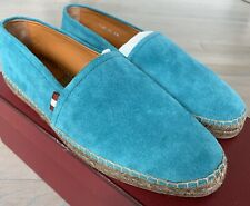 $500 Bally Blue Fillon Suede Espadrilles Size US 13 Made in Spain