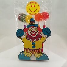 3 Party Favor Lollipop Pen Packages with paper clown pen holder/ placecard
