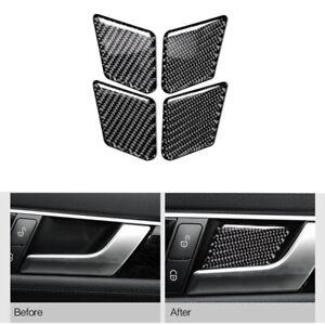 Carbon Fiber Door Handle Bowl Trim For Mercedes-Benz C E Class W204 W212 2009-15