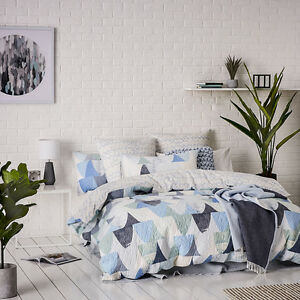 5pc  Home Republic Pike Quilted QBed Quilt Cover+2 P/CASE+2Euro BNIP RRP $379.99