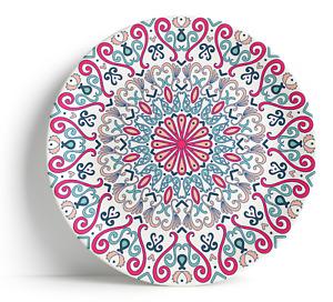 """Fez Pink - 16"""" Serving Plate, Porcelain, Ceramic, Dishwasher safe - Moroccan"""