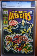 AVENGERS 67 CGC 5.5 OW/W  ULTRON 6 VISION BLACK PANTHER BARRY WINDSOR-SMITH