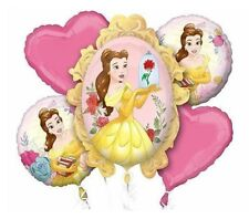 Belle Beauty And The Beast 5pc Balloon Bouquet Birthday Party Decorations