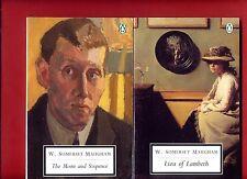 2 W. Somerset Maugham books: Moon and Sixpence + Liza of Lambeth -Free Ship!