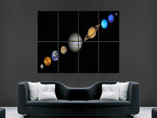 SOLAR SYSTEM PLANETS SPACE FANTASY SCI FI  WALL POSTER ART  PRINT LARGE HUGE