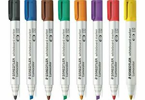 Staedtler Lumocolor Whiteboard Markers 351. BULLET TIP PACK OF 5