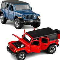 1:32 Jeep Wrangler Sahara SUV Diecast Model Car Toy Collection Sound&Light Gift