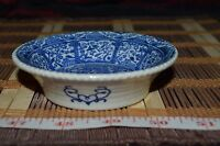 "Asian Ceramic Blue and White Small Decorative Design Dipping Bowl 4 1/8""x1 1/8"""