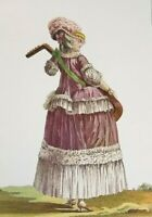 Art Print Rococo Court Dress Panniers Fashion Plate 1778 Corset Tailor Caraco