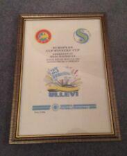 FRAMED CANVAS PRINT OF 1983  ECWC FINAL -  ABERDEEN V REAL MADRID