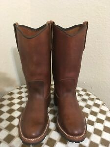 VINTAGE BROWN RED WING USA WESTERN COWBOY BOOTS 6 D
